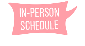 In-Person Schedule