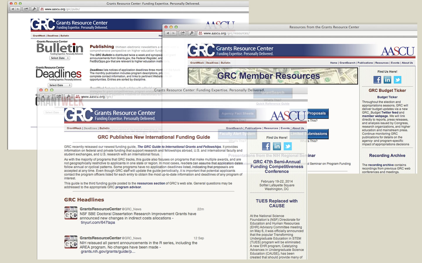Grants Resource Center Member Websit - aascu.org/grc