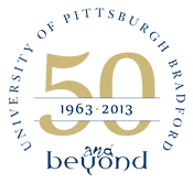 University of Pittsburgh at Bradford Anniversary Logo