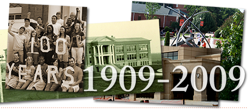 East Central University - Anniversary banner